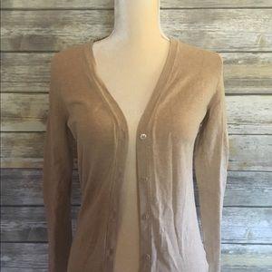 Merona tan/gold cardigan button-up sweater - XS